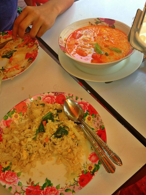 tom yum and fried rice, makes an awesome combo